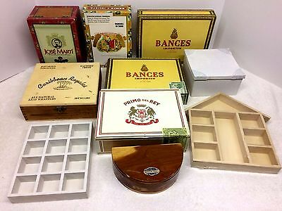Wood Cigar Shadow Boxes Altered Crafts Collage Assemblage Artist DE-STASH LOT