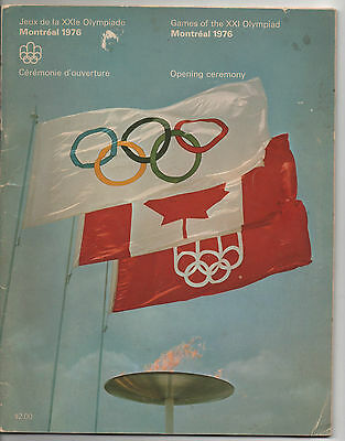 Orig.PRG    Olympic Games MONTREAL 1976  -  OPENING CEREMONY  !!  EXTREM RARE