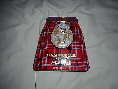 Campbells All Butter Shortbread Biscuit Tin '' Kilt Collection ''