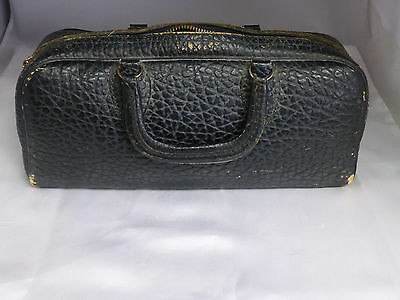 Vintage Doctor's Pebble Grain Leather Bag