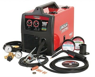 Lincoln Electric Mig Weld Pak 180 HD Wire Feed Welder 24-Gauge Flux-Cored