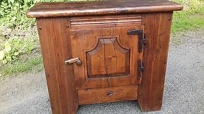 Antique French Heavy Country/rustic Cupboard In Solid Cond