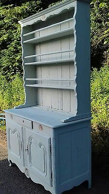 Beautiful Antique French Country Painted 19Thc Plate Rack/ Vaissillier Dresser