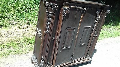 Antique French Carved 19Thc  Cupboard Door Needs Attention As Found In Normandy