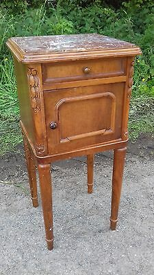 Antique French Marble Top /inner Bedside Cupboard