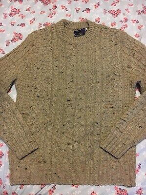 Vintage Pendleton Arran Knit Wool Jumper Cable USA Made
