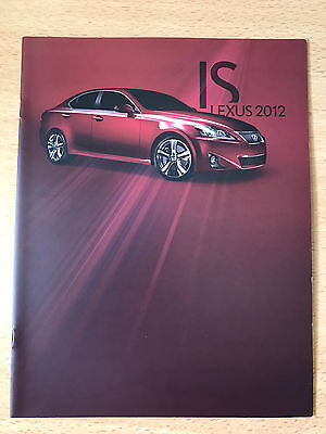 2012 Official Lexus Is Brochure Mint 14 Pages Isc Isf