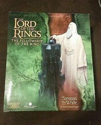 Sideshow WETA Lord of the Rings LOTR - Saruman statue mint in box