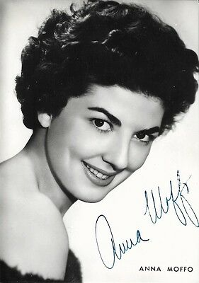ANNA MOFFO - IP autographed HAND SIGNED 4x6 vintage photo of Opera Singer