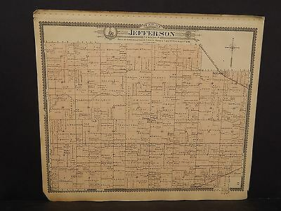 Indiana Boone County Map Jefferson Township 1904   !J15#19