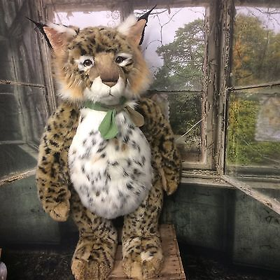 Charlie Bears Lazarus 30 Inch Standing Plush Fully Jointed Lynx Limited Edition