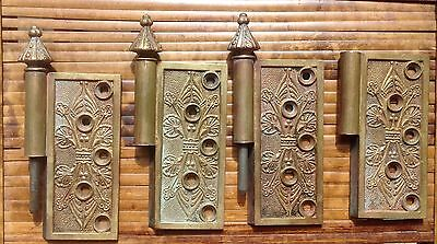 Antique Victorian Solid Brass Door Hinges From 1869 Lot Of 4