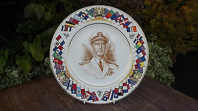 Admiral King World War 2 Plate USA Allied Nations Commemorative Series