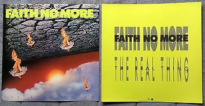 Faith No More The Real Thing RARE promo 12 x 12 poster flat '89