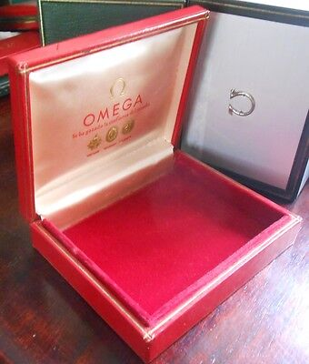 VINTAGE 50s 60s WATCH BOX FOR OMEGA MADE IN SWEDEN