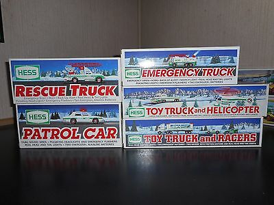 Lot Of 5 Hess Trucks 1993, 1994, 1995, 1996 & 1997 All In Mint Conditon
