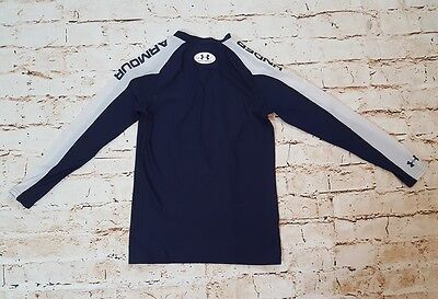 Under Armour compression shirt long-sleeve navy blue youth large damaged B05