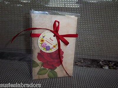 Roses Scented Sachet Envelopes 5'' x 3 1/2'' Set of 3 to a Box NIP Lovely Scent