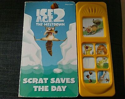 ICE AGE 2 The Meltdown Scrat saves the day board book play a sound
