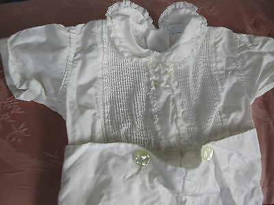 VTG Little Boy Romper Outfit to Dress Large Antique Bisque Baby Toddler Doll 2T