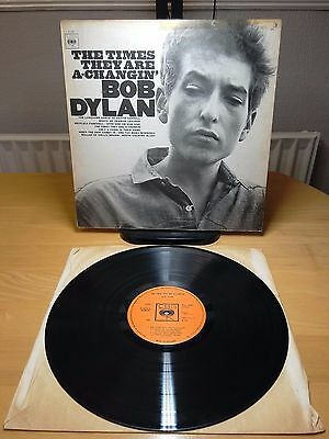 Bob Dylan - The times they`re a-changin (CBS 62251) A4 B5 UK pressing