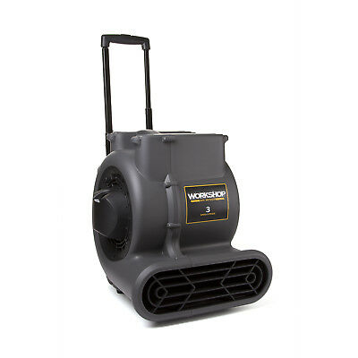 WORKSHOP WS1625AM Air Mover Fan & Carpet Dryer with Collapsible Handle & Wheels