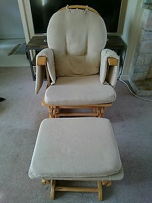 Mothercare nursing chair rocking chair and stool