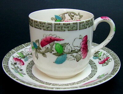 Johnson Brothers Indian Tree Pattern 100ml Coffee Cups / Cans & Saucers in VGC