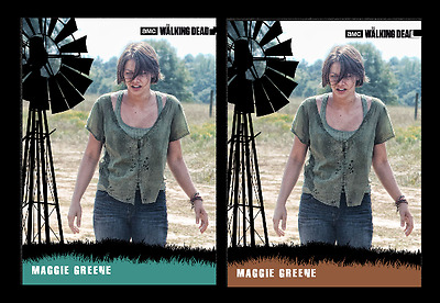 Topps The Walking Dead Card Trader The Greenes Wave 2 Magie Cleared Teal & Brown
