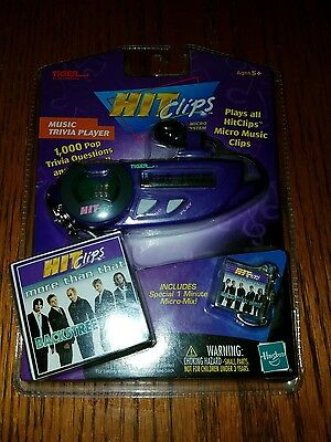 2001 Tiger Hit Clips Micro Music System Trivia Player with Backstreet Boys Clip