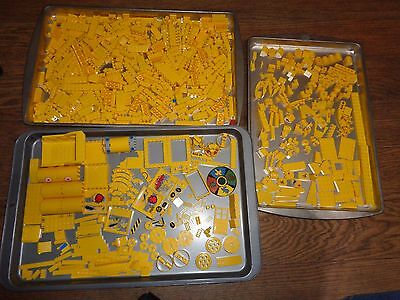 Lego - 2.1 lb./940 grams Assorted Yellow Pieces