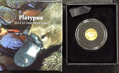 2014 $2 1/25th oz gold coin Platypus