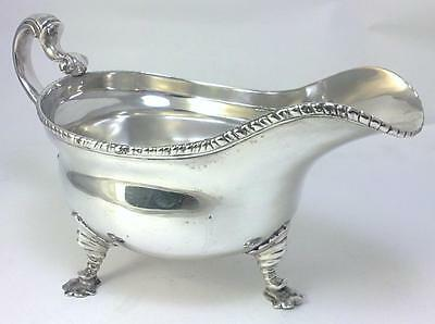 George II  hallmarked Sterling Silver Sauce Boat / Gravy Boat – 1755  (312g)
