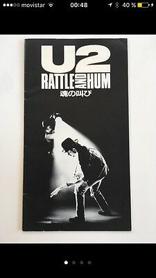 U2 Japanish Tourbook Rattle and Hum film. Rare and exclusive