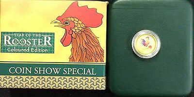 2005 $5 1/20th oz gold coin year of the rooster coin show special