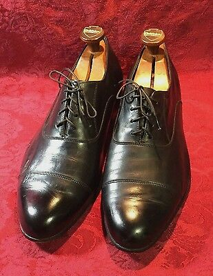 VIntage The Florsheim Shoe Black Leather Cap Toe Oxford Style 76016 SZ 10.5 EEE