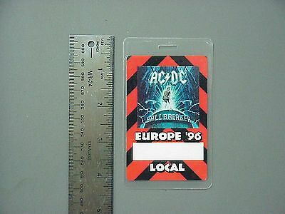 AC/DC backstage pass Laminated Authentic Ballbreaker '96 Europe Red !