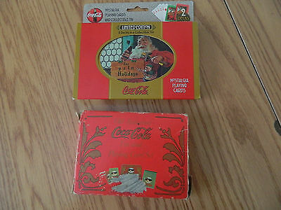 2 Double Decks of Coca cola Playing Cards