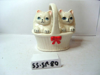 cats in basket salt and pepper shakers