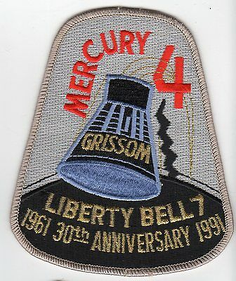 MERCURY 4 Liberty Bell 7  30th Anniversary Space NASA Patch