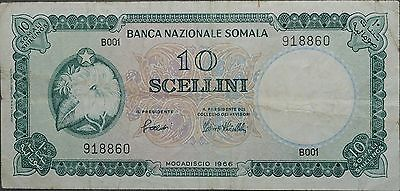 1966 Somalia 10 Scellini, Pick 6, Fine to VF