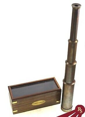 "15"" TELESCOPE - Antique Finish - CAPTAIN'S SPY GLASS"