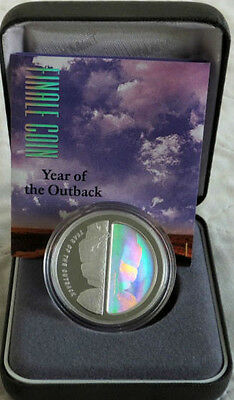 2002 $5 1oz 999 Silver Proof Finale Hologram Coin - Year of the Outback
