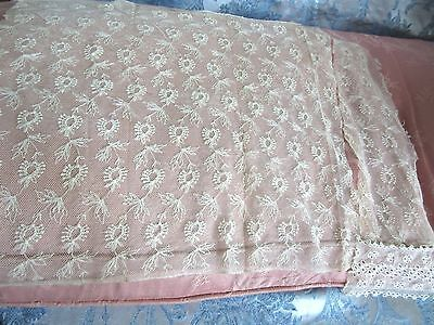 Vintage Tambour Floral Lace Panel Cutter for Antique French Doll Dress Trim Lot
