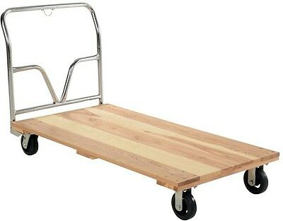 1600lbs Platform Truck Cart Dolly Warehouse Moving Push Hand Hardwood Heavy Duty