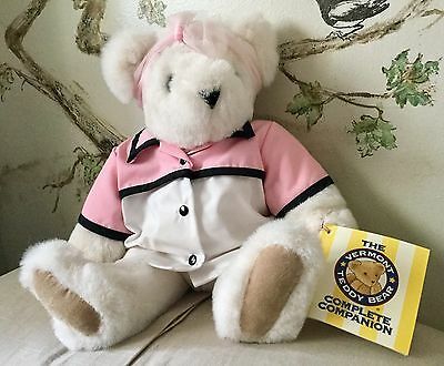 """The Vermont Teddy Bear Co. Fully Jointed Plush Bear """"All American Mom"""" Vintage"""