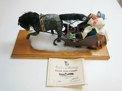 Annalee Sleigh Ride Coupe Limited Edition # 1211 / 1997 Signed Nwt 4539