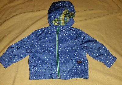 BAKER BY TED BAKER BABY BOYS LINED WIND BREAKER SAIL BOATS BLUE Size 0/3 Months