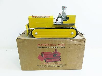 Vintage 1950's Marvelous Mike Robot Electromatic Tractor #1000 With Original Box