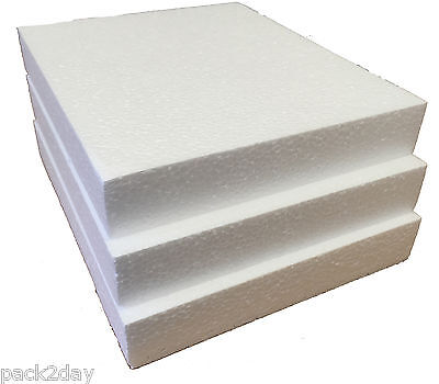 POLYSTYRENE SHEETS /PADS SD GRADE - 240x200x35mm - PK 12  SMALL QTY PACK